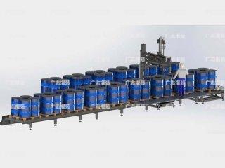200L托盘四桶灌装机/IBC桶自动灌装机